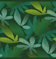 tropical leaves hand drawn seamless pattern vector image