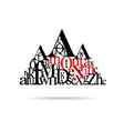 typography mountain abstract vector image vector image
