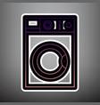 washing machine sign violet gradient icon vector image