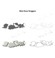 West Nusa Tenggara outline map set vector image vector image