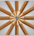 wooden realistic pencils vector image vector image