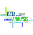 word cloud data analysis vector image vector image