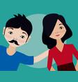 young couple cartoon vector image vector image