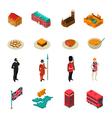 Great Britain Isometric Touristic Set vector image