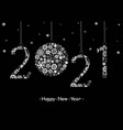 2021 happy new year greeting card vector image