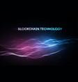 3d background blockchain technology vector image