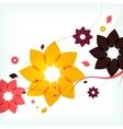 Abstract autumn flower background vector image
