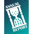 Annual report cover with hourglass with arrows on vector image vector image