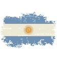 Argentine grunge flag vector image vector image