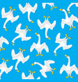 bird swan pattern vector image