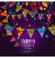 Birthday card with bunting flags vector image vector image