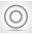 Black Abstract Halftone Circle Logo Design Element vector image vector image