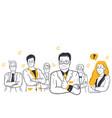 business coronavirus team collaboration concept vector image