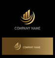 business finance progress gold company logo vector image vector image