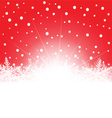 christmas snowflakes on red background vector image vector image