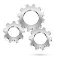 Chrome gearwheel vector image vector image