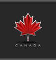 coat arms canada maple leaf with 3d effect vector image vector image