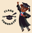 college graduation flat colorful poster with vector image vector image