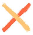 colored criss cross brushstroke delete sign vector image vector image