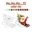 coloring book santa vector image