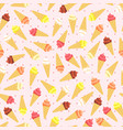 colors flat ice cream seamless pattern vector image