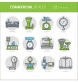 Commercial scales set vector image