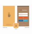company coffee splash screen and login page vector image vector image