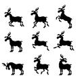 deer set vector image vector image