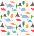 dinosaur pattern background vector image