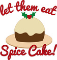 Eat Spice Cake vector image vector image