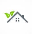 eco house garden logo vector image vector image