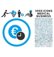 Euro Credit Icon with 1000 Medical Business vector image vector image