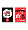 final christmas sale placards vector image vector image