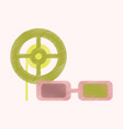 flat icon in shading style 3d cinema vector image