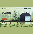 flat modern design cabin house vector image vector image