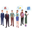 group of office workers employees managers vector image vector image