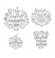 Halloween flat monograms vector image