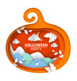 halloween pumpkin cartoon paper vector image