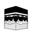 hand drawing kaaba of mecca vector image vector image