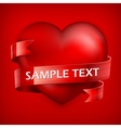 Heart on red vector image vector image