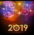 holiday festival golden firework happy new year vector image vector image