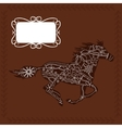 Horse background vector image