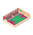 isometric basketball indoor court vector image