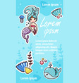 kawaii little mermaid social media network page vector image vector image