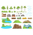landscape elements constructor natural compatible vector image