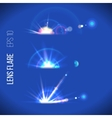 Lens flare vector image