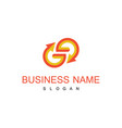 letter g arrow business logo vector image