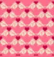 lovers birdies seamless geometric pattern vector image vector image