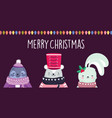 merry christmas celebration cute monk seal bear vector image vector image