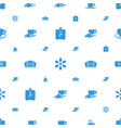 morning icons pattern seamless white background vector image vector image